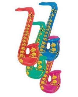 Dmuchana zabawka saksofon - losowy kolor