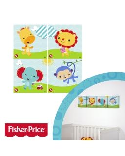 Zestaw 4 obrazków 25x25 cm Fisher Price