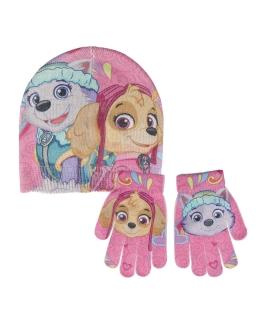 Komplet: czapka jesienna / zimowa i rękawiczki Psi Patrol