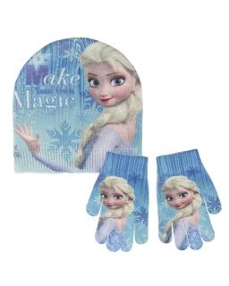 Komplet: czapka jesienna / zimowa i rękawiczki Frozen - Kraina Lodu