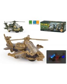Helikopter wojskowy - światło, dźwięk