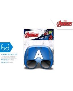 Okulary przeciwsłoneczne 3D Kapitan Ameryka