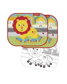 Osłonki samochodowe 2 szt + kolorowanki Fisher Price – lew