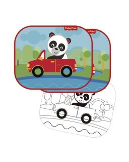 Osłonki samochodowe 2 szt + kolorowanki Fisher Price – panda