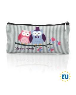 Piórnik / saszetka biodro Happy Owls - Sowy
