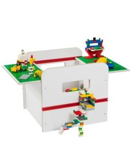 Pojemnik drewniany na zabawki Room 2 Build - kompatybilny z klockami Lego