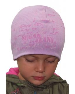 Czapka dla dziewczynki modne wzornictwo, dobra jakość 50 - 54