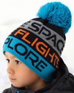 Zimowa czapka z pomponem dla chłopca