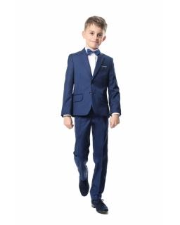 Dwuczęściowy taliowany garnitur dla chłopca w kolorze kobaltowy