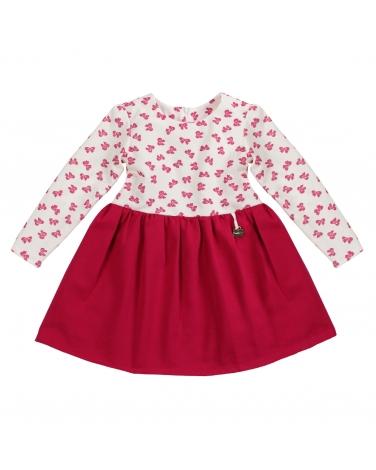 40934959f6 Dziewczęca sukienka ze wzorem w kokardki i długim rękawem