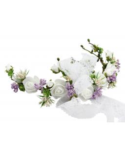 Półwianek komunijny z dodatkiem fioletu