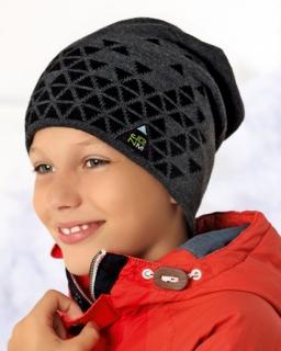 Zimowa czapka dla chłopca ocieplona polarem