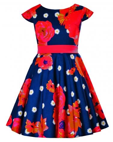 2f47036d62 Piękna sukienka w kwiaty przód