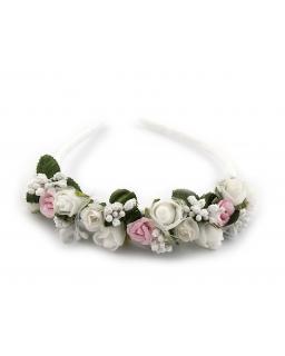 Opaska z kwiatami dla dziewczynki OP53