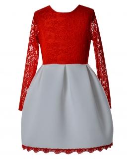 Sukienka dla dziewczynki z koronkową górą i piankowym dołem