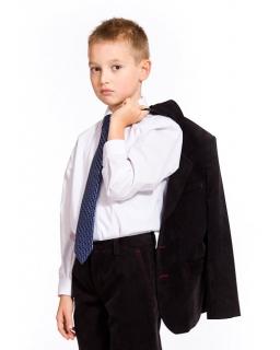 Elegancka biała koszula długi rękaw dla chłopca 122 - 146