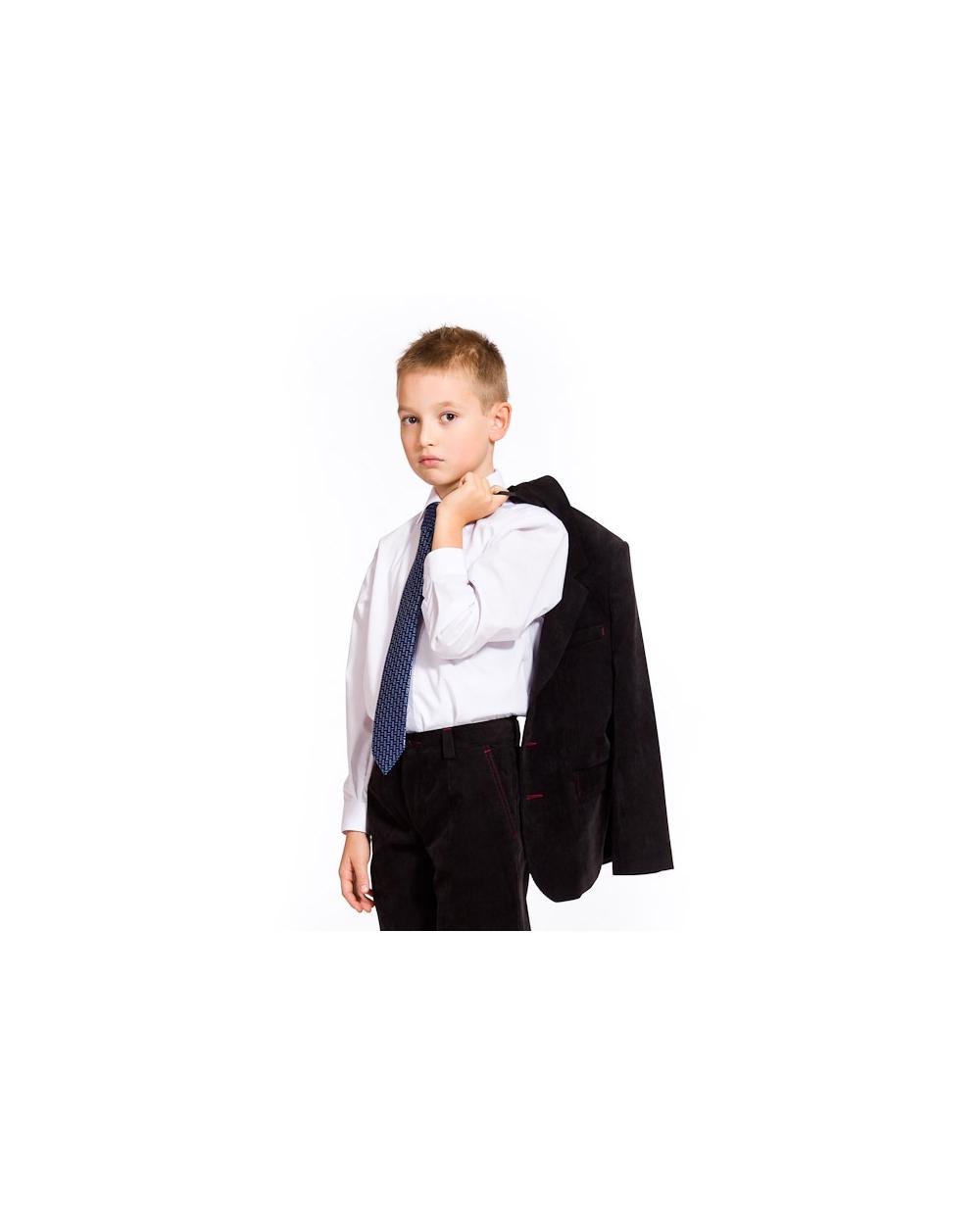 a7a200e5db315f Elegancka biała koszula długi rękaw dla chłopca 110 - 158 Maciek