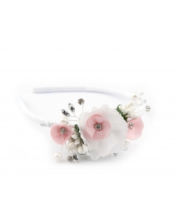 Opaska z dużymi kwiatuszkami dla dziewczynki OP78