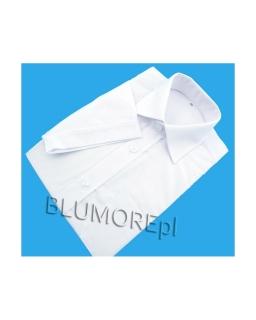 Elegancka biała koszula młodzieżowa krótki rękaw 152 - 188 k04