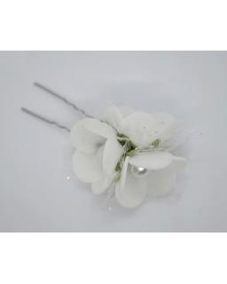 Kokówka z trzema kwiatuszkami i perełkami