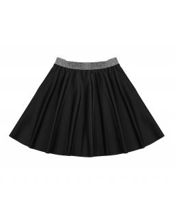 Skórzana spódnica ze srebrnym paskiem