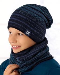 Zimowy zestaw ciepła czapka i komin dla chłopca