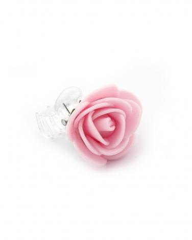 Różowa przypinka białe tło