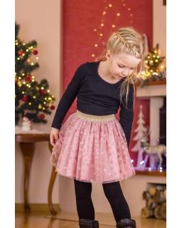 Spódniczka dziewczęca w modnym tiulem oraz gumką