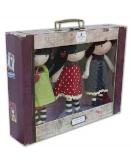Zestaw 3 lalek w walizce Gorjuss Santoro