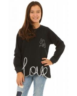 Bluza z napisem love dla dziewczynki