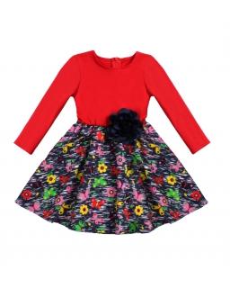 Sukienka dla przedszkolaka 128 Milena czerwona