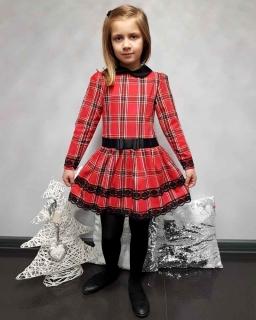 Sukienka w świąteczną kratkę