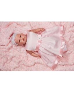 Różowa sukienka do chrztu