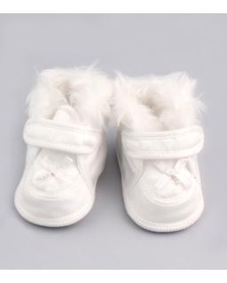 Białe buty do chrztu dla dziewczynki