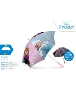 Parasol manualny świecący LED Frozen - Kraina Lodu