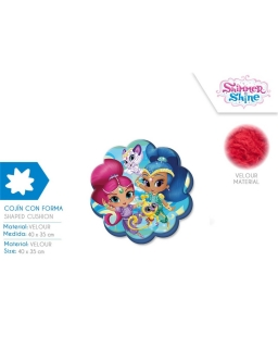 Poduszka welurowa Shimmer i Shine