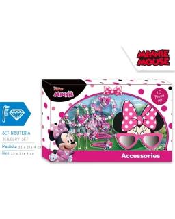 Zestaw prezentowy: akcesoria do włosów, biżuteria i okulary przeciwsłoneczne 3D Myszka Minnie