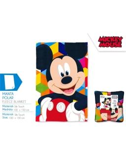 Koc polarowy Silk Touch Myszka Mickey