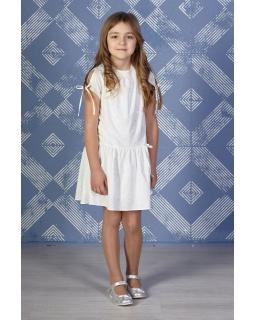 Biała sukienka w serduszka