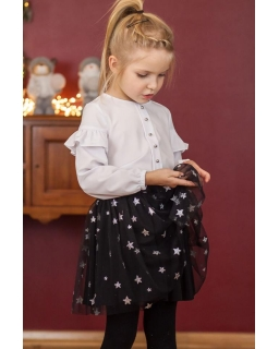 Spódniczka dla dziewczynki czarna w gwiazdki
