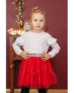 Spódniczka dla dziewczynki na święta czerwona w gwiazdki
