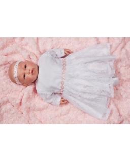 Sukienka dla dziewczynki do chrztu koronkowa