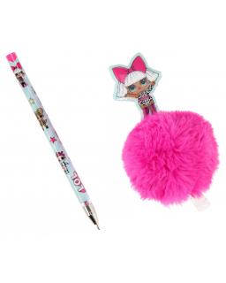 Długopis z topperem – pom pom LOL Surprise