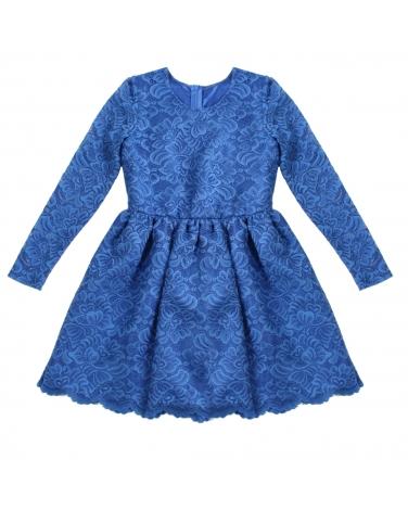 e85e093aefa7cf Koronkowa sukienka dla dziewczynki z długim rękawkiem
