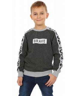 Bluza dla chłopaka ocieplana z długim rękawem zakładana przez głowę