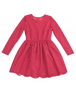 Koronkowa sukienka dla dziewczynki w żywym malinowym kolorze