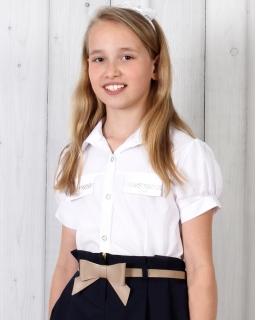 Koszula z krótkim rękawem dla dziewczynki