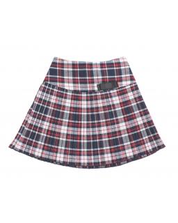Spódniczka dla dziewczynki w szkocką kratkę z ozdobną kokardką