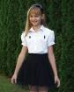 Czarne spódniczki dla dziewczynek, spódnica galowa, stylizacja