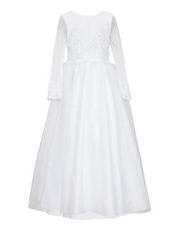Długa sukienka pokomunijna dla dziewczynki